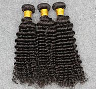 Ciocche a onde capelli veri Vietnamita Molto ondulata 12 mesi 3 pezzi tesse capelli