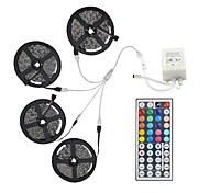 20M(4*5M) 5050 RGB 600 LEDs Strip Flexible Light LED Tape String Lights Not waterproof DC 12V 600LEDs with 44Key IR Remote Controller Kit