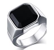Муж. Массивные кольца Кольцо Оникс Мода бижутерия Нержавеющая сталь Агат Бижутерия Назначение Повседневные