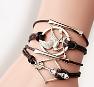 Women's Wrap Bracelet Handmade Leather Wings / Feather Jewelry For Halloween
