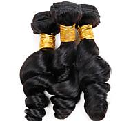Ciocche a onde capelli veri Peruviano Onda sciolta 12 mesi 3 pezzi tesse capelli