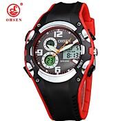 Hombre Mujer Unisex Reloj Deportivo Reloj de Vestir Reloj de Moda Cuerda Automática Calendario Esfera Grande Cuero Auténtico BandaCosecha