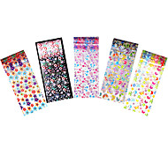 5pcs Foil Nail Art Sticker Women Manicures Tool Flower Butterfly Transfer Colorful Film Decal