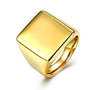 Ring Jewelry Steel Fashion Gold Jewelry Casual 1pc
