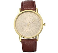 Unisex Dress Watch Quartz Water Resistant/Water Proof Leather Band Casual Black / Brown Brand