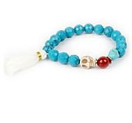 Women's Strand Bracelet Agate Statement Jewelry Skull / Skeleton Purple Blue Dark Purple Jewelry 1pc