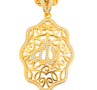 Men's Women's Pendants Zircon Cubic Zirconia Alloy Unique Design Gold Jewelry Daily Casual 1pc