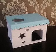 Rodents Hutches Foldable Wood Blue Pink