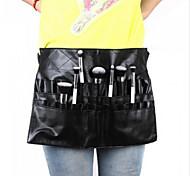 1Pcs Black Two Arrays Makeup Brush Holder Professional Pvc Apron Bag Artist Belt Strap Protable Make Up Bag Cosmetic Brush Bag