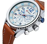 Муж. Спортивные часы Модные часы Наручные часы Кварцевый Календарь Натуральная кожа Группа Повседневная Люкс Разноцветный