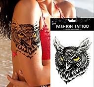 5Pc Waterproof Temporary Tattoo Sticker  Owl Tattoos Big Water Transfer Fake Ink Black  Tattoo For Girl Women Men