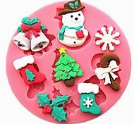 1 Pcs Snowman Christmas Trees And Christmas Bells For Chocolate High Quality  7Cm*7Cm*1Cm