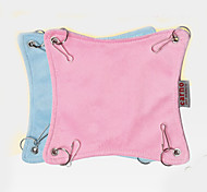 Rodents Beds Foldable Hammock 16*16cm Fabric Blue Pink