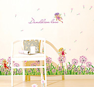 Romance Dandelion Lover Wall Stickers Fashion Florals Fairy Wall Stickers Plane Wall Stickers Decorative Wall Stickers Home Decoration Wall Decal
