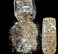 Nail Art Glitter Powder Tyrant Gold Hexagonal Sequins Powder Dust Mix Size Nail Glitter Powder Flash Acrylic Manicure Nail
