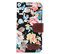 For LG G5 G4 G3 Case Cover Flowers PU Leather Mobile Phone Holster