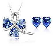 Damen Kristall Aleación 1 Halskette 1 Paar Ohrringe Für Party Hochzeitsgeschenke