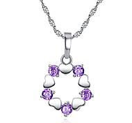 Ms fashion the drill heart-shaped wreath necklace love heart pendant zircon jewelry eight eight arrows 0373 #
