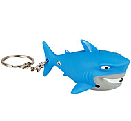 Keychain Jewelry Unique Design Unisex Cool Casual Assorted Colored Adorable Shark Cute LED Wallet Accessories