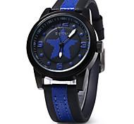 Unissex Relógio de Moda Quartzo Digital Colorido Couro Banda Casual Branco Azul Vermelho Marrom marca
