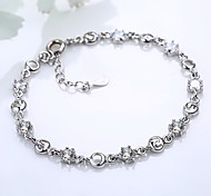 Chain Bracelet Silver Plated Others Fashion Gift Jewelry Gift Silver1pc