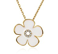 Necklace AAA Cubic Zirconia Pendant Necklaces Jewelry Daily Casual FlowerUnique Design Flower Style Dangling Style Rhinestone Cute Style