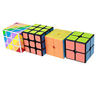 Yongjun® Cubo Macio de Velocidade 2*2*2 3*3*3 Nível Profissional Cubos Mágicos Etiqueta lisa Anti-Abertura Mola Ajustável ABS