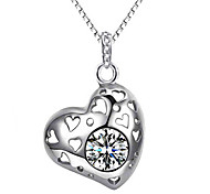 Women's Pendants Sterling Silver Simulated Diamond Basic Design Personalized Silver Purple Jewelry Daily Casual 1pc