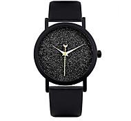 Women's Fashion Watch Quartz Leather Band Black