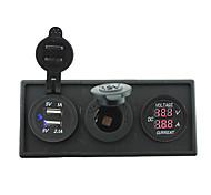 12v / 24v питания charger3.1a USB порт и тока манометр Ampmeter с держателем корпус панель для автомобиля лодки грузовик с.в. (с текущим