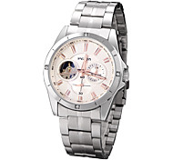 Men's Mechanical Watch / Automatic self-winding Alloy Band Casual Silver