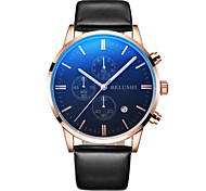 Men's Sport Watch Dress Watch Fashion Watch Wrist watch Chinese Quartz Calendar Water Resistant / Water Proof Large Dial Genuine Leather