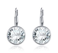 Crystal Drop Earrings Jewelry Women Daily Casual Crystal Copper Silver Plated 1 pair Silver