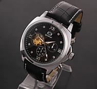 Men's Women's Unisex Sport Watch Dress Watch Fashion Watch Mechanical Watch Wrist watch Automatic self-winding Genuine Leather BandCharm