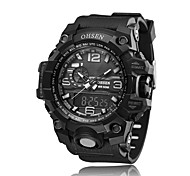 Men's Sport Watch Quartz Rubber Band Black