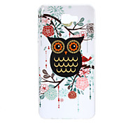 For Samsung Galaxy J7 Prime J5 Prime J3 Prime J3 Prime TPU Material Gold Powder Black Owl Pattern Phone Case