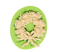 Красивый венок силиконовая помадка торт формы шоколадная форма кухня выпечка украшения инструмент цвет случайный