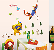Winnie the Pooh Wall Stickers Cartoon Animals Fashion Plane Wall Stickers Children's Decorative Wall Stickers Home Decoration Wall Decal