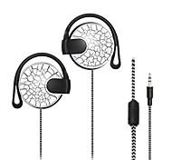 Crack Pattern Super Bass Stereo Hook Style Earphone - WHITE