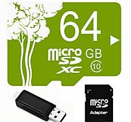 Outro 64GB MicroSD Classe 10 20 Outro Leitor de Cartão Tudo-em-Um Leitor de Cartão Micro SD Leitor de Cartão SD USB 2.0
