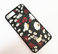 Para Antipolvo Funda Cubierta Trasera Funda Flor Dura Policarbonato para Apple iPhone 7 Plus iPhone 7 iPhone 6s Plus/6 Plus iPhone 6s/6