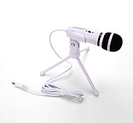 Hot sale  Audio Sound Recording Condenser Microphone with Shock Mount Holder Clip with locking knob 3.5mm aux jack Mobile phone microphone