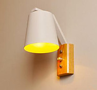 Creative Personality Warm Wood Iron Bed Lamp Switch With Nordic Corridor Study