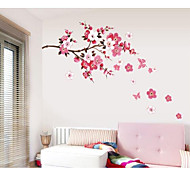 The Plum Flower Butterfly Romantic Household Wall Stickers