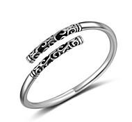 Кольца Для вечеринок Повседневные Спорт Бижутерия Серебрянное покрытие Кольца на вторую фалангу Массивные кольца Кольцо 1шт,Регулируется