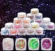 12 дополнительный цвет небольшой площади в штучной упаковке прижимаются симфония прозрачной ромба маленьких пайеток