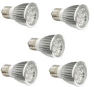 4W E14 GU10 E27 Lampes Horticoles LED 4 LED Haute Puissance 360-400 lm Rouge Bleu V 5 pièces
