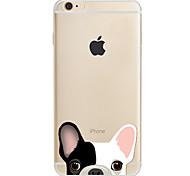 Para Estampada Capinha Capa Traseira Capinha Cachorro Macia TPU para AppleiPhone 7 Plus iPhone 7 iPhone 6s Plus/6 Plus iPhone 6s/6 iPhone