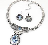 Ensemble de bijoux Bijoux Alliage Original Pendant Vintage euroaméricains Bijoux de déclaration Bijoux ArgentBoucles d'oreille gitane