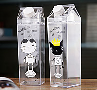 Cartoon Drinkware, 500 ml Leak-proof BPA Free Plastic Juice Water milk carton Bottle